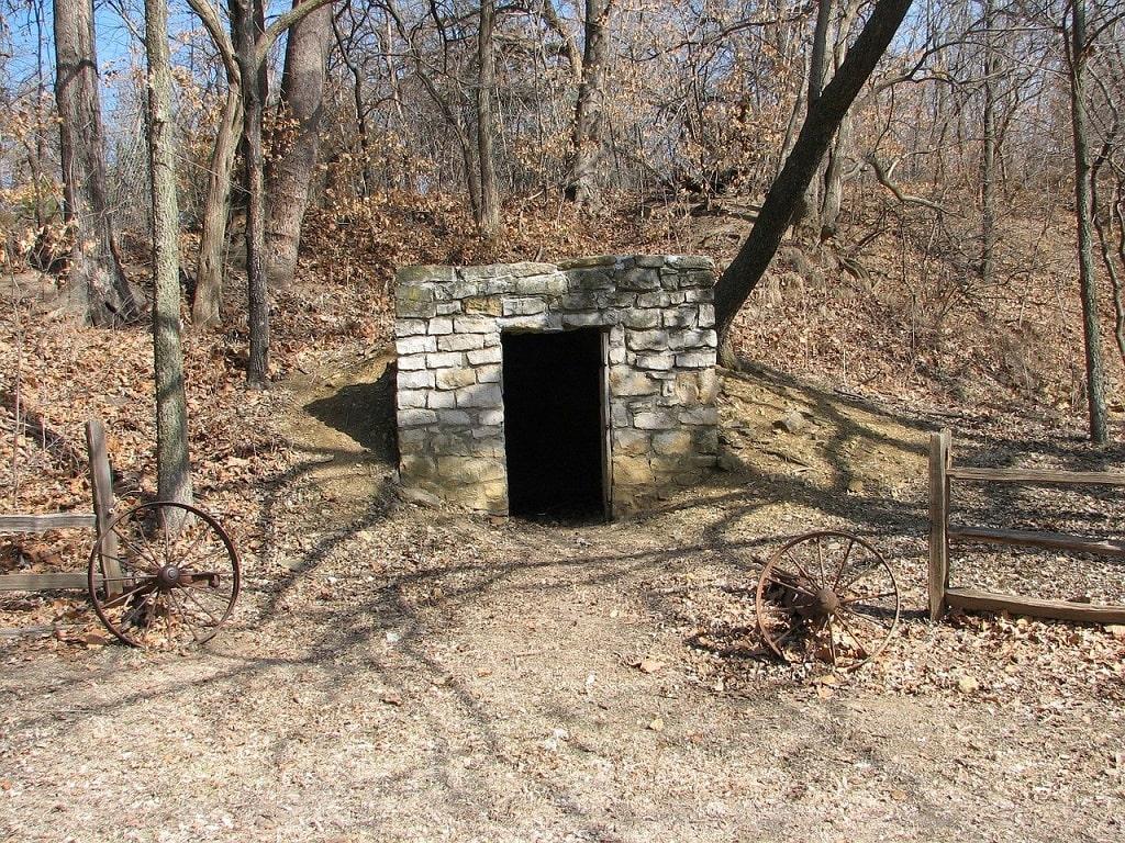 Entrée d'un bunker