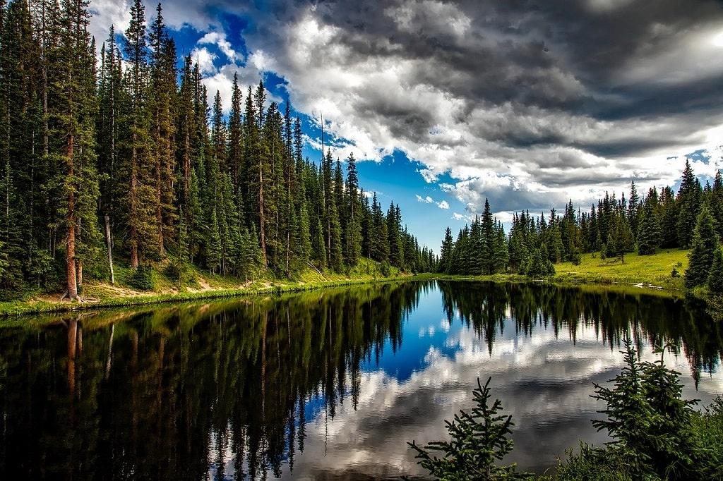 La campagne comporte des paysages magnifiques