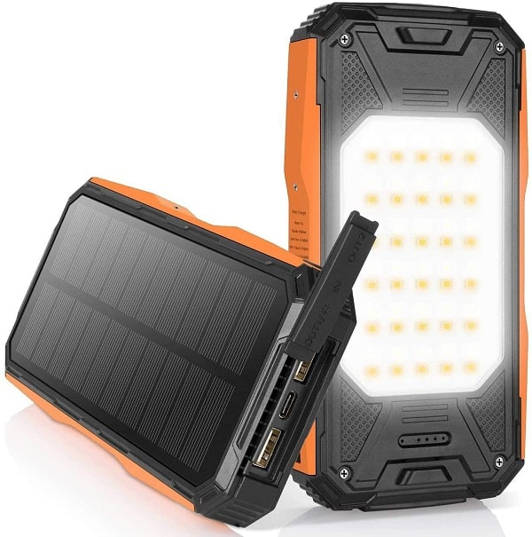 Batterie externe avec recharge solaire