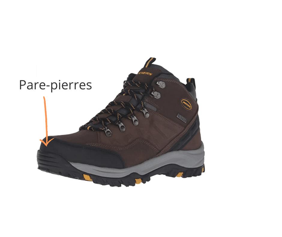 Chaussures de survie: Pare pierres