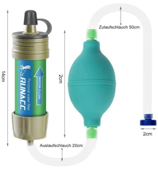 Filtre à eau Runacc