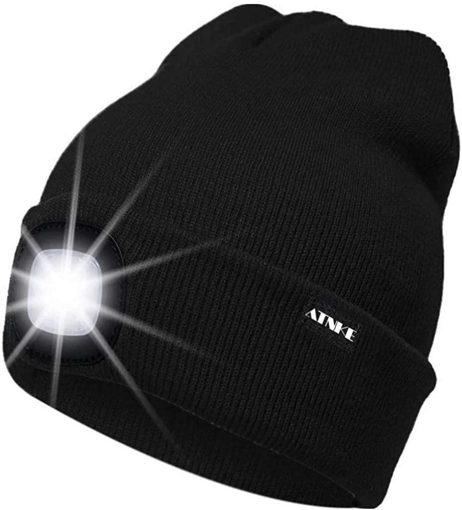 Bonnet avec lampe frontale