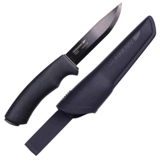 Couteau de survie Mora Bushcraft noir