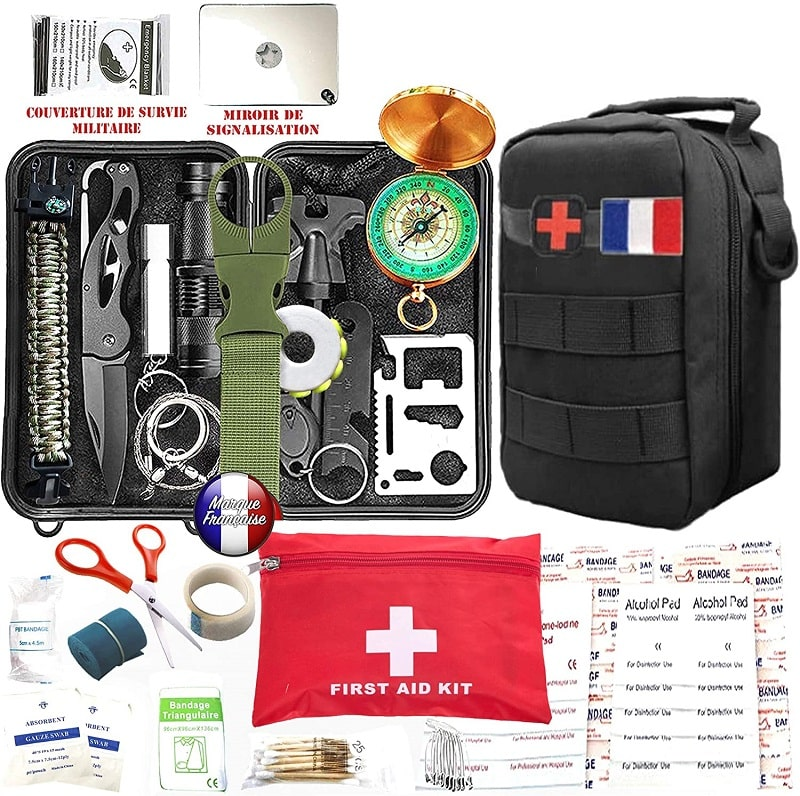 Kit de survie d'urgence amazon 88 en 1