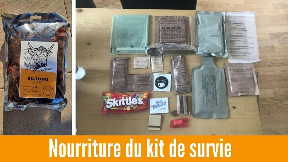 kit de survie nourriture